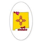 ILY New Mexico Sticker (Oval 50 pk)