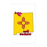 ILY New Mexico Sticker (Rectangle 50 pk)