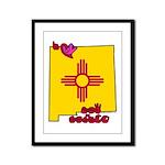 ILY New Mexico Framed Panel Print