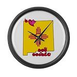 ILY New Mexico Large Wall Clock