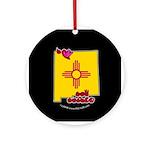 ILY New Mexico Ornament (Round)