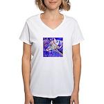 Eagle Wolf Women's V-Neck T-Shirt