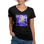 Eagle Wolf Women's V-Neck Dark T-Shirt