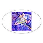Eagle Wolf Sticker (Oval)