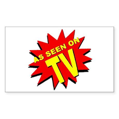 As Seen on TV Sticker (Rectangular)