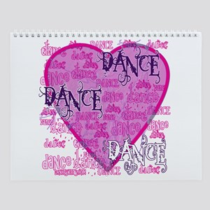 Dance Purple Brocade Wall Calendar