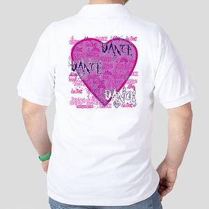 Dance Purple Brocade Golf Shirt