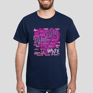 Dance Purple Brocade Dark T-Shirt
