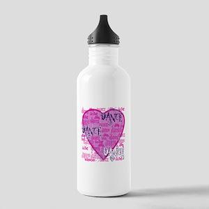 Dance Purple Brocade Stainless Water Bottle 1.0L