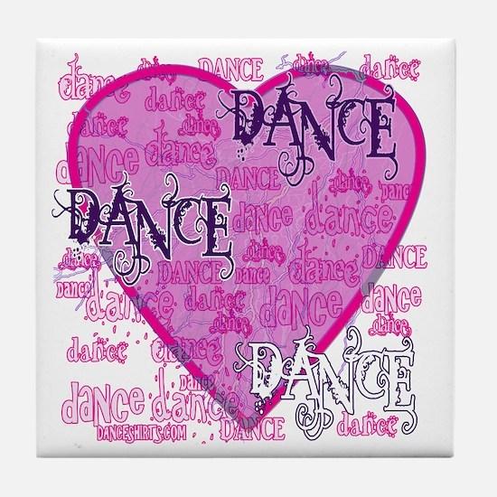 Dance Purple Brocade Tile Coaster