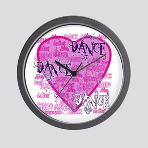 Dance Purple Brocade Wall Clock