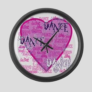 Dance Purple Brocade Large Wall Clock