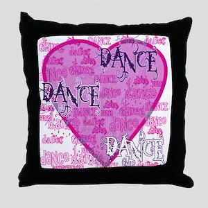 Dance Purple Brocade Throw Pillow
