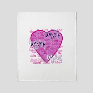 Dance Purple Brocade Throw Blanket