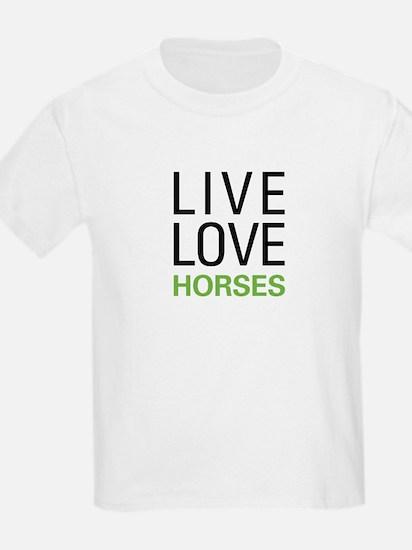 Live Love Horses T-Shirt