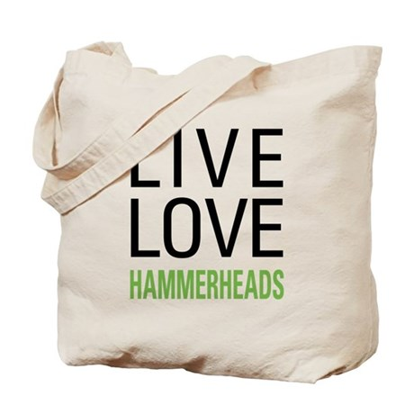Live Love Hammerheads Tote Bag