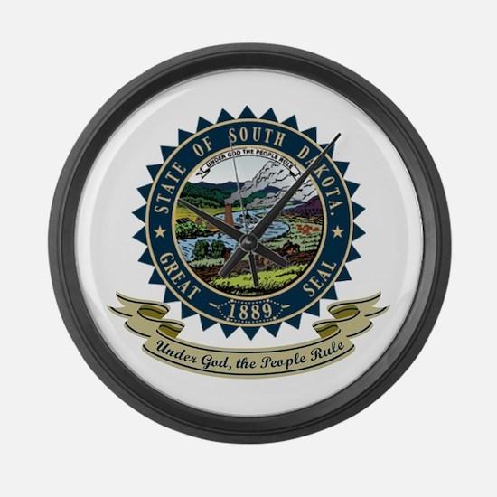 South Dakota Seal Large Wall Clock