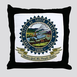 South Dakota Seal Throw Pillow
