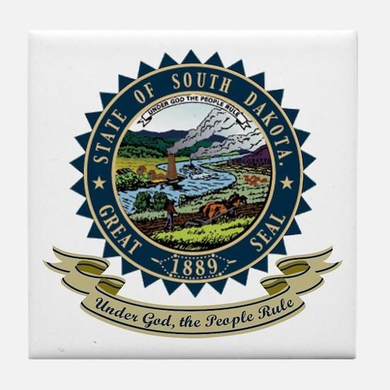 South Dakota Seal Tile Coaster