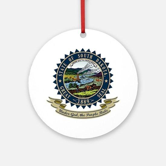 South Dakota Seal Ornament (Round)