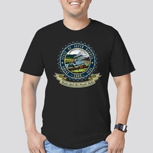 South Dakota Seal Men's Fitted T-Shirt (dark)
