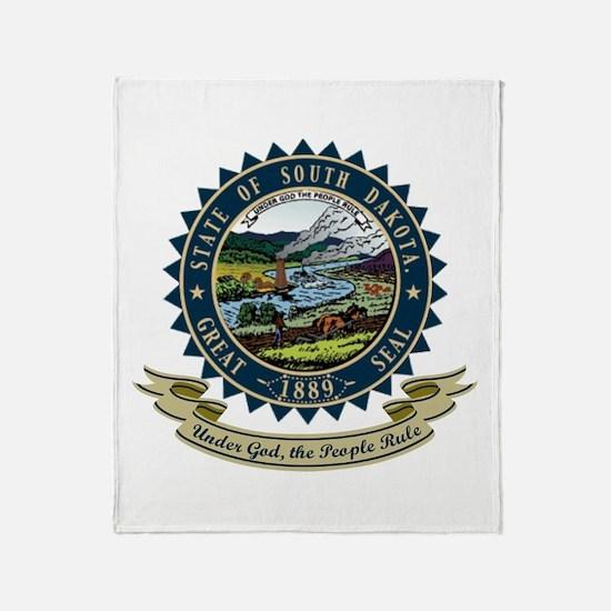South Dakota Seal Throw Blanket