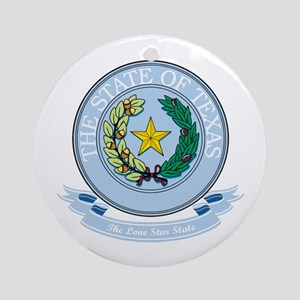 Texas Seal Ornament (Round)