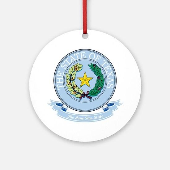 Texas Seal Ornament (Round)