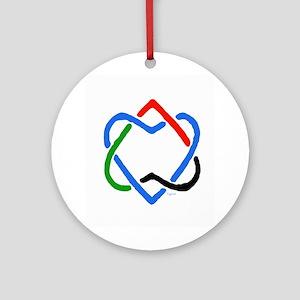 Peace Shalom Salaam Ornament (Round)