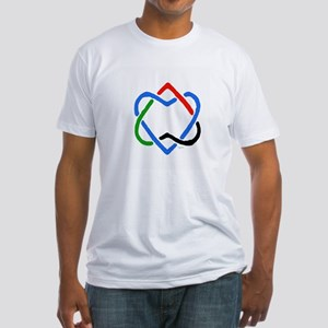 Peace Shalom Salaam Fitted T-Shirt