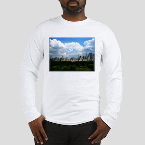 NY SKYLINE WITH CENTRAL PARK Long Sleeve T-Shirt