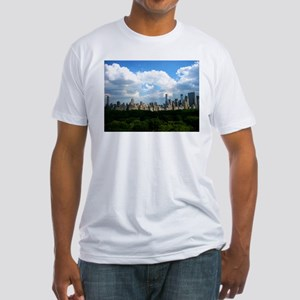 NY SKYLINE WITH CENTRAL PARK Fitted T-Shirt