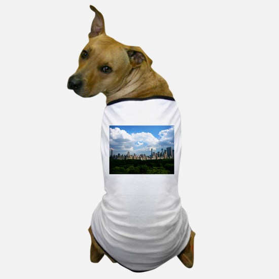 NY SKYLINE WITH CENTRAL PARK Dog T-Shirt