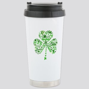 St Paddys Day Shamrock Stainless Steel Travel Mug