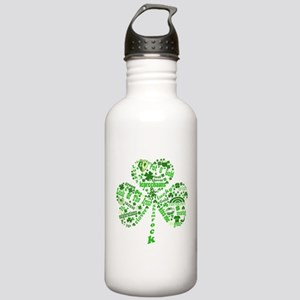 St Paddys Day Shamrock Stainless Water Bottle 1.0L