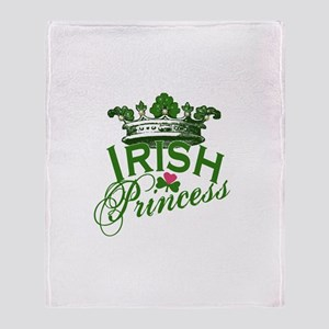 Irish Princess Tiara Throw Blanket