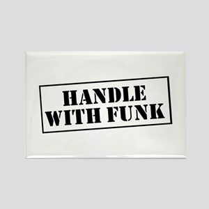 Handle with Funk Rectangle Magnet