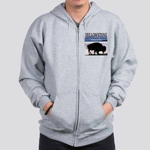 Bison Yellowstone National Pa Zip Hoodie