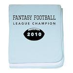 Fantasy Football League Champ baby blanket