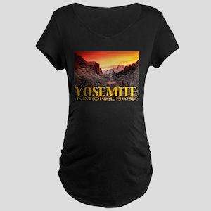 Yosemite National Park Maternity Dark T-Shirt