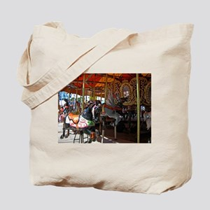 ASTROLAND BLACK CAROUSEL HORS Tote Bag