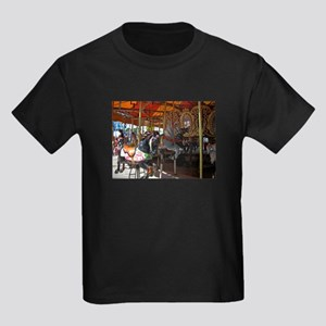 ASTROLAND BLACK CAROUSEL HORS Kids Dark T-Shirt