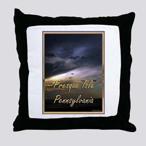 Presque Isle, Erie, PA Throw Pillow