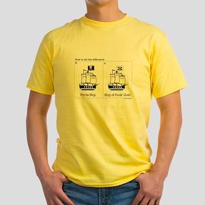 Pyrite Ship Yellow T-Shirt