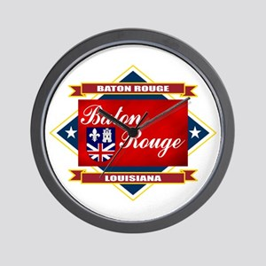 Baton Rouge Flag Wall Clock