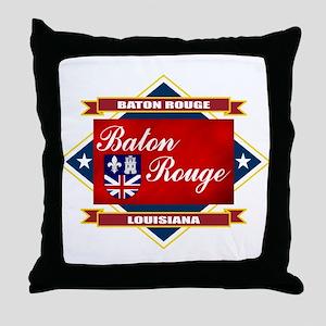Baton Rouge Flag Throw Pillow