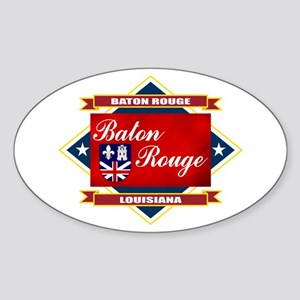 Baton Rouge Flag Sticker (Oval)