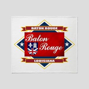 Baton Rouge Flag Throw Blanket
