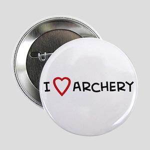 I Love Archery Button