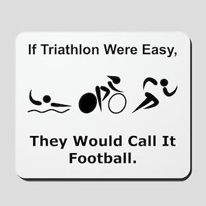 Traithlon Football Mousepad